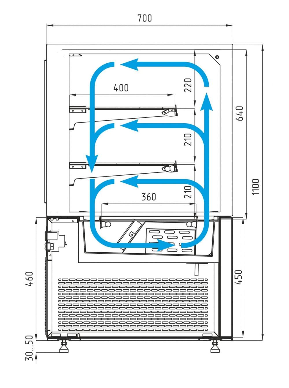 Кондитерская витрина CARBOMA COSMO KC71-110VV0.6-1 - 5
