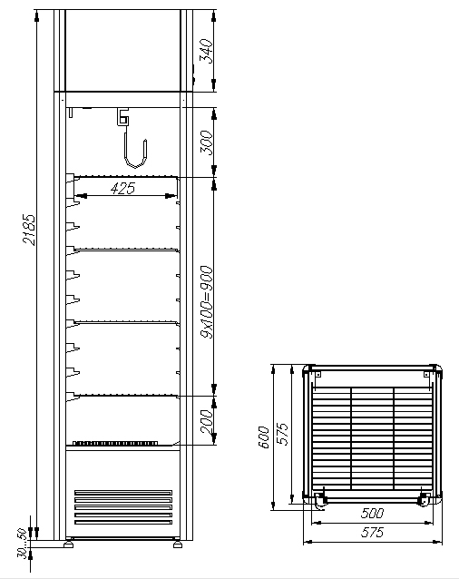 Холодильный шкаф CARBOMA D4 VM 400 HHC 0102 - 1