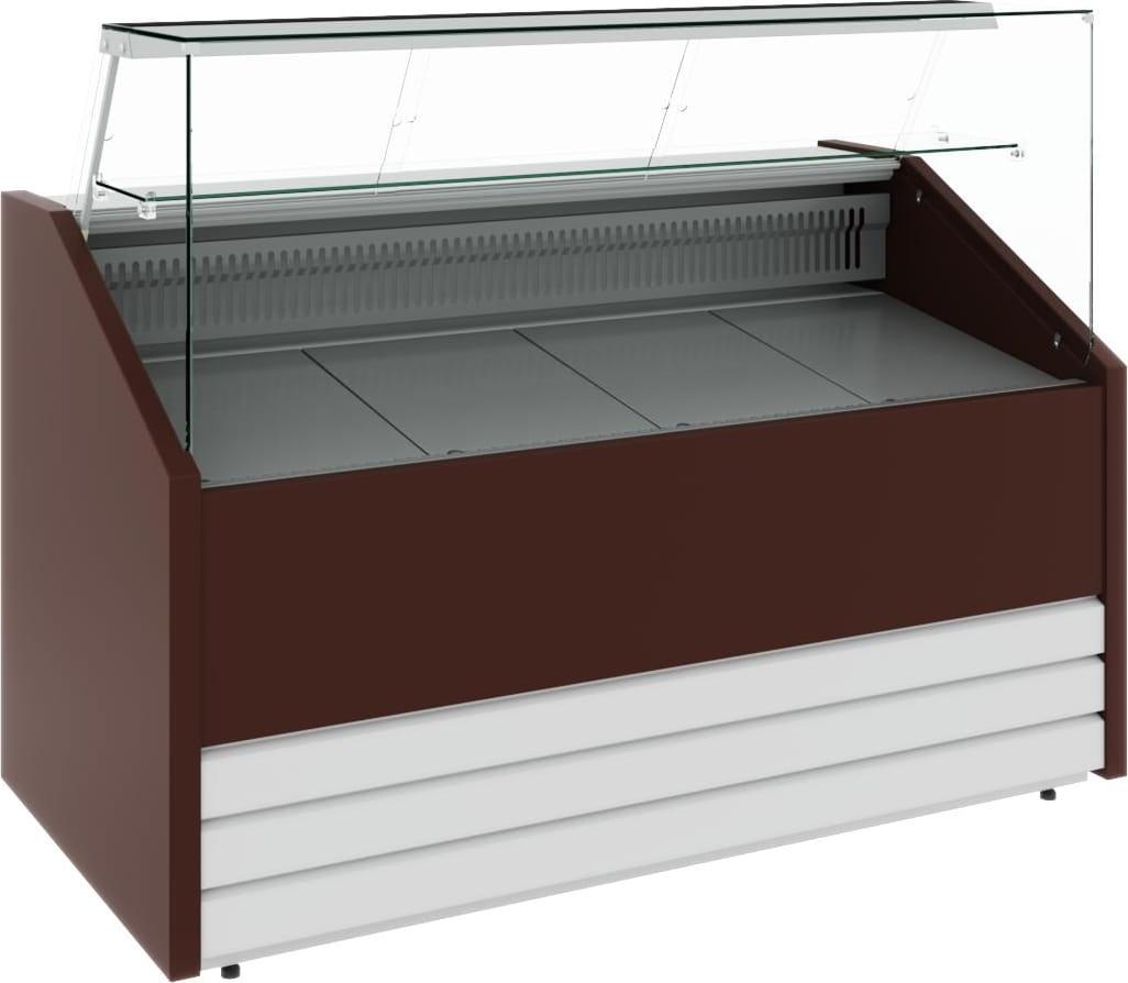 Холодильная витрина CARBOMA COLORE GС75 VM1.0-1 (динамика) 9006-9003 - 9