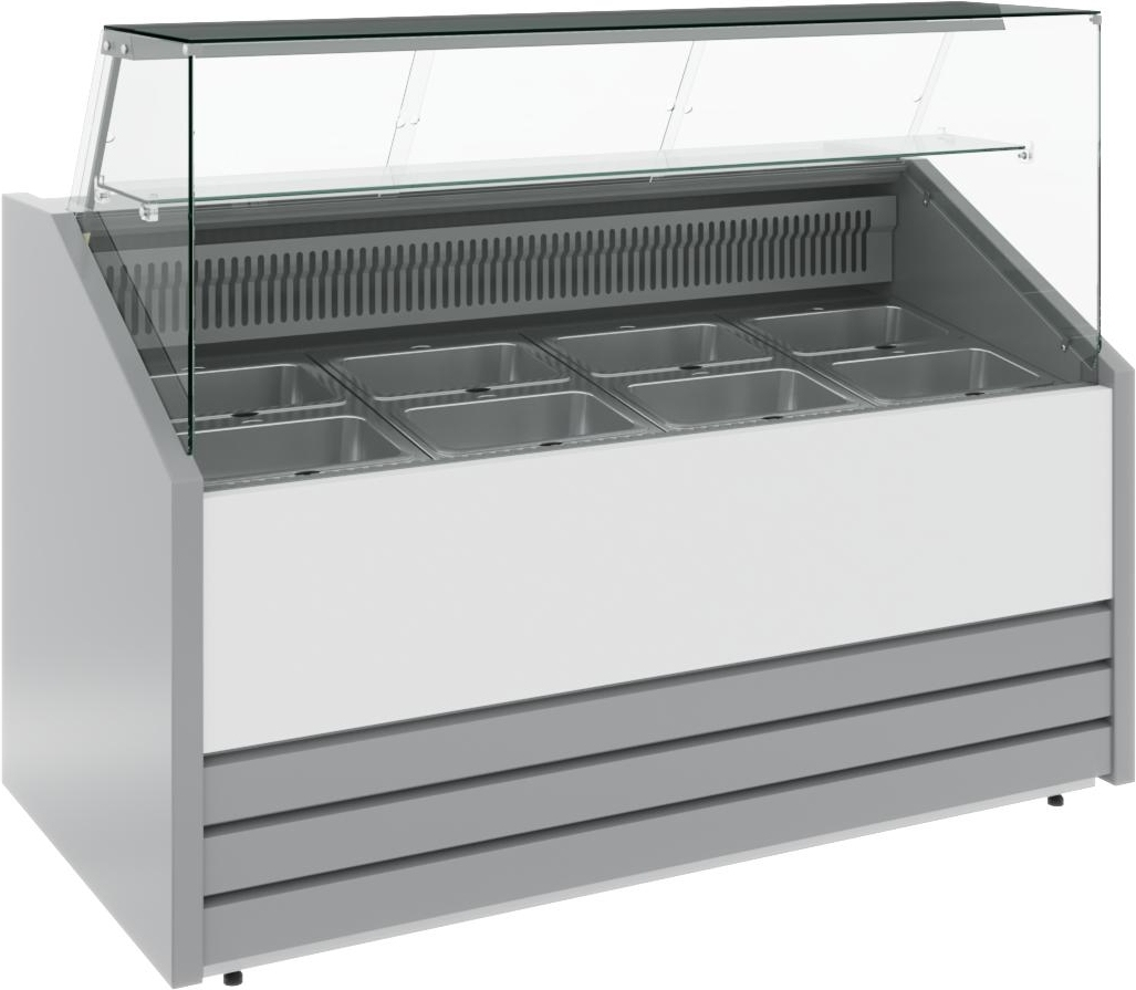 Холодильная витрина CARBOMA COLORE GС75 SM1.5-1 9006-9003 - 1