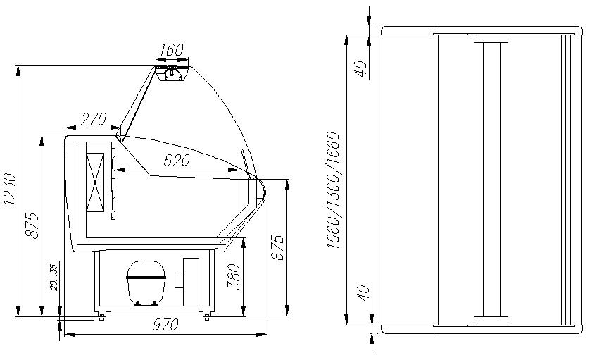 Холодильная витрина CARBOMA ВХС-1.8 PALM (G95SM1.8-1) - 2
