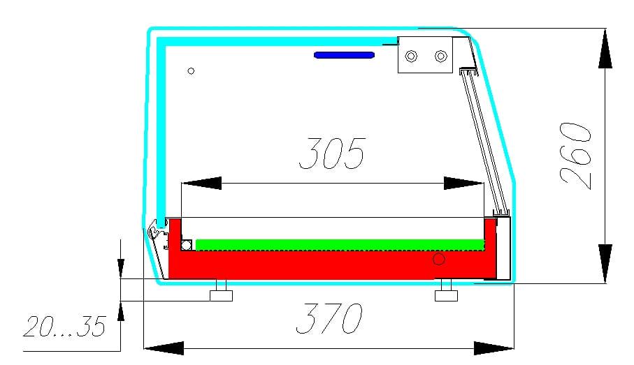 Холодильная витрина CARBOMA CUBE SUSHI BAR AC37 SM 1.0-1 Sushi - 2