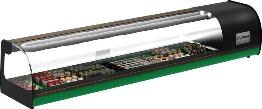 Холодильная витрина суши-кейc CARBOMA ВХСв-1.5 SUSHI BAR (A37SM1.5-1Sushi) - 1
