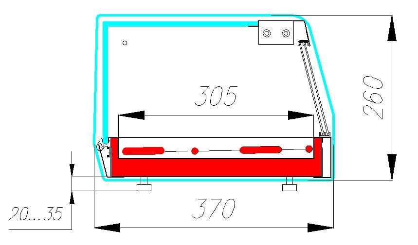 Тепловая витрина CARBOMACUBEBAR AC37SH1.0-1 - 1