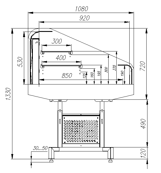 Холодильная витрина CARBOMA PF11-13 VM 1.25-2 9006 - 2