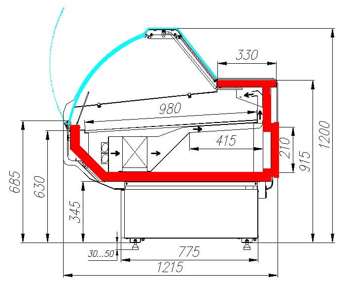 Холодильная витрина CARBOMA G120 VM 1.25-1 - 5