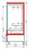 Холодильная горка для мяса CARBOMA CUBE FLESH FC20-08VV1.0-3X7