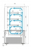 Кондитерская витрина CARBOMA COSMO KC71-130VV1.2-1BUILT-IN