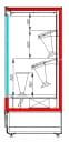 Холодильная горка для цветов CARBOMA FLORA FC20-08VM1.0-1 X7