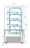 Кондитерская витрина CARBOMA COSMO KC71-130VV0.6-1
