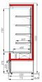 Холодильная горка CARBOMA 1930/710 ВХСп-0.6 CUBE (FC20-07VM0.6-2)