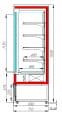 Холодильная горка CARBOMA CUBE FC20-07VV1.3-1