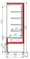 Холодильная горка CARBOMA 1930/710 ВХСп-1.3 CUBE (FC20-07VM1.3-2)