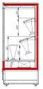 Холодильная горка для цветов CARBOMA FLORA FC20-08 VM 1.0-2