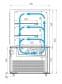 Кондитерская витрина CARBOMA COSMO KC71-110VV0.6-1