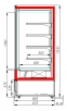 Холодильная горка CARBOMA 1930/875 ВХСп-1.3 CUBE (FC20-08VM1.3-2)