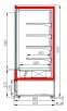 Холодильная горка CARBOMA 1930/875 ВХСп-2.5 CUBE (FC20-08VM2.5-2)